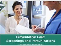 Preventative Care: Screenings and Immunizations
