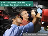 Evidence-Based Practices in Supported Employment Part 1